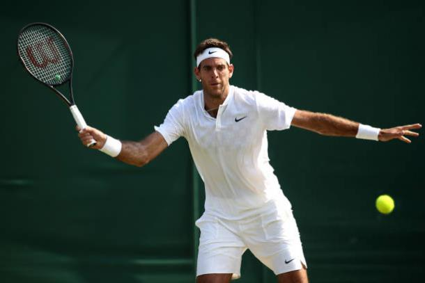 Juan Martin del Potro in action at Wimbledon (Getty/Julian Finney)