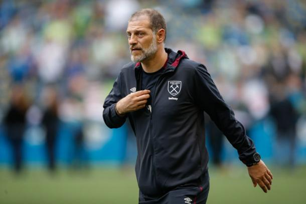 Above: West Ham United Slaven Bilic on the sideline on their pre-season tour of the US | Photo: whufc.com