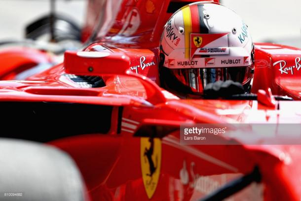 Vettel recovered from an early spin. | Photo: Getty Images/Lars Baron