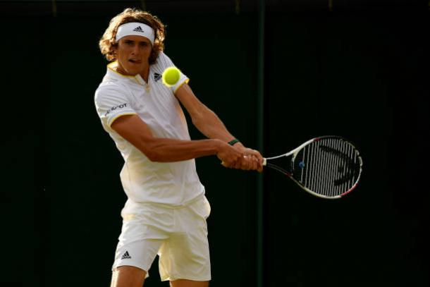 Zverev's backhand could be an important shot in this match (Getty/Shaun Botterill)