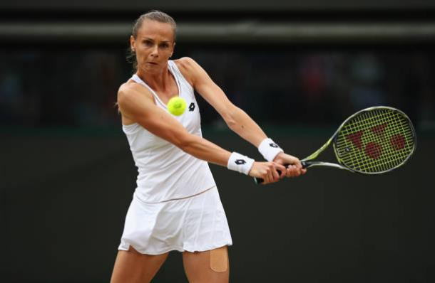 Magdalena Rybarikova in action during the first past of her win over Coco Vandeweghe (Getty/Clive Brunskill)