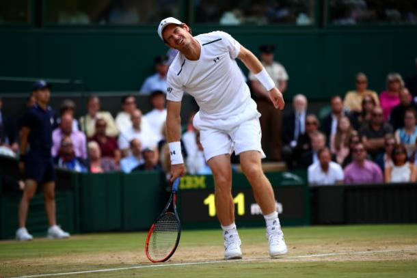 Murray struggled during his loss to Querrey at Wimbledon (Getty/Clive Brunskill)