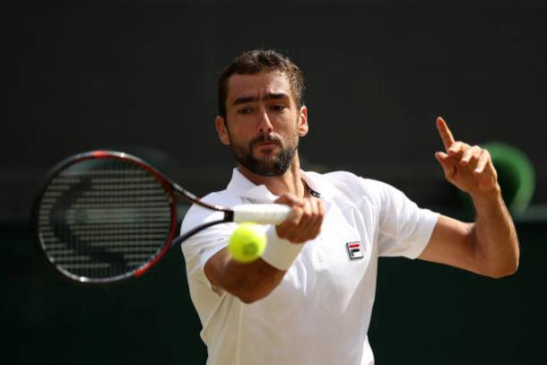 Marin Cilic will look to use his forehand to great effect on Friday (Getty/Julian Finney)