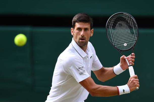 """Ataca """"Nole"""". Imagen-Wimbledon"""