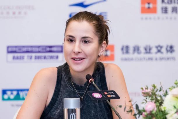Belinda Bencic during a press conference in Shenzhen | Photo: Shenzhen Open