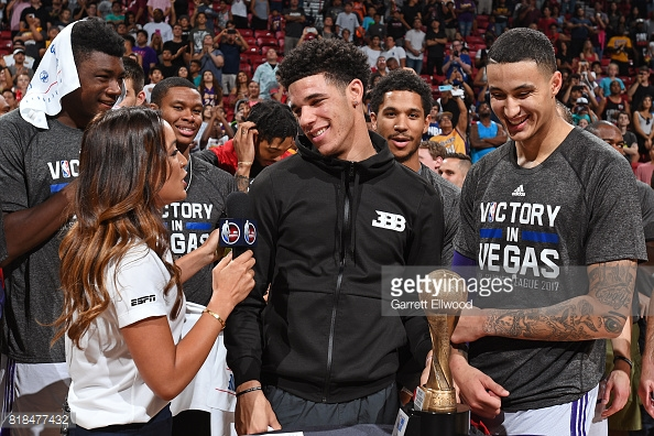 All four new Lakers rookies captured as Lonzo wins the Summer League MVP| Garrett Ellwood/Getty Images