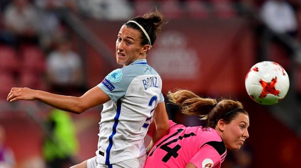 Rachel Corsie could not stop the dominant display England produced against Scotland | Source: uefa.com