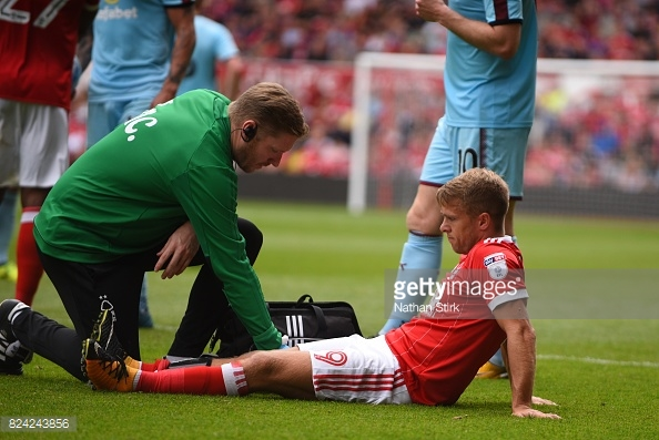 Forest will be hoping Jamie Ward's injury is not too serious. (picture: Getty Images / Nathan Stirk)