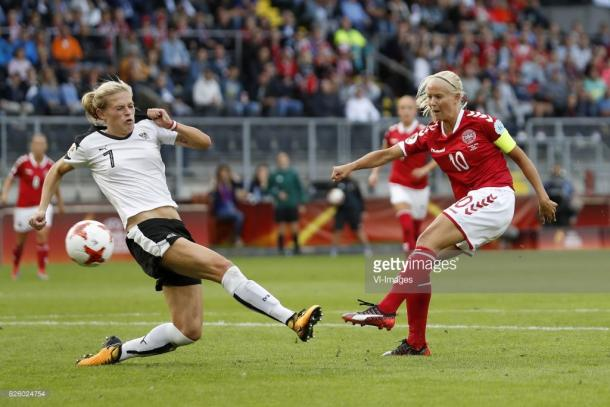 Denmark beat Austria in shootout to reach Women's Euro final