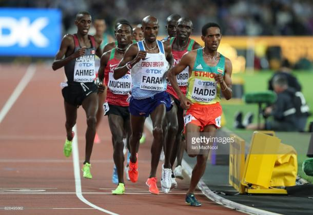 Farah bided his time as he always does. | Photo: Getty/Ian MacNicol.