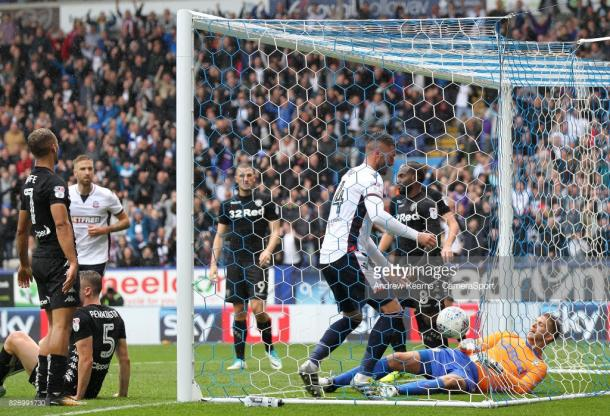Madine's header got Wanderers back into the match. (picture: Getty Images / Andrew Kearns - CameraSport)