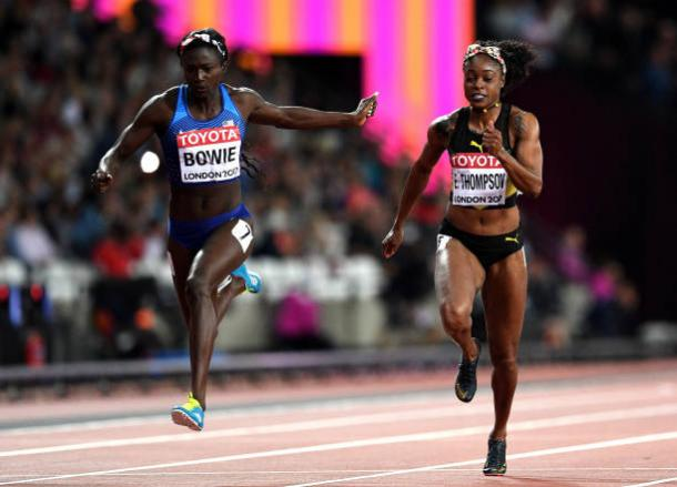 Thompson struggled as Bowie took her first individual global title (Getty/David Ramos)