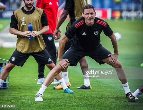 Nemanja Matic in training
