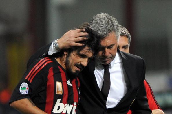 Gattuso era homem de confiança de Ancelotti (Foto: Giuseppe Cacace/AFP)
