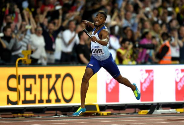 Mitchell-Blake brings the baton home for Britain (Getty/Alexander Hassenstein)