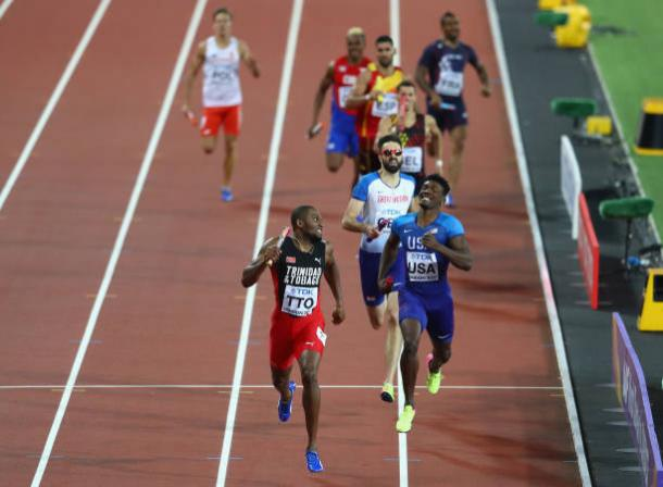 Gordon leads the field home to take a surprise gold medal (Getty/Michael Steele)
