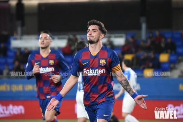 Monchu celebrando un gol. FOTO: Noelia Déniz