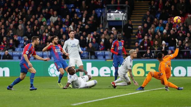 Townsend en una ocasión de gol. Foto: Premier League.