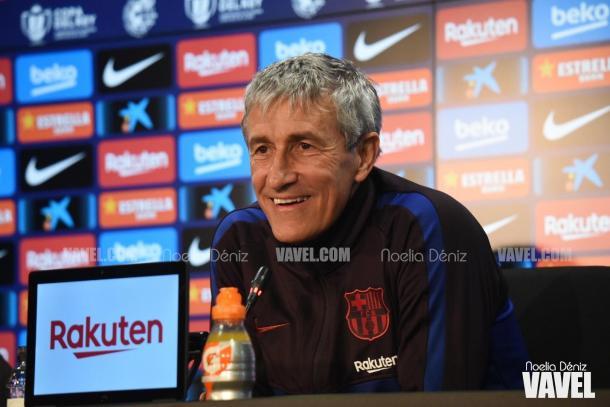 Quique Setién, técnico del Barcelona | Foto: Noelia Déniz - VAVEL