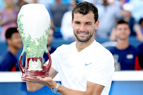 Dimitrov with his first Masters 100 title in Cincinnati (Getty/Matthew Stockman)