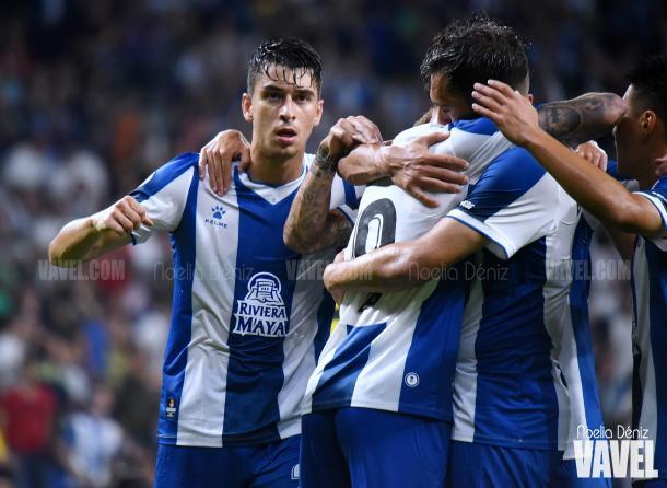 Marc Roca asistió el segundo gol perico | Foto: Noelia Déniz (VAVEL