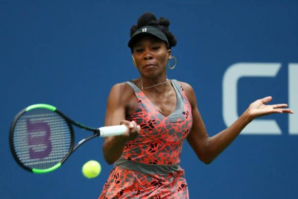 Williams battled through on the Arthur Ashe Stadiium today (Getty/Al Bello)