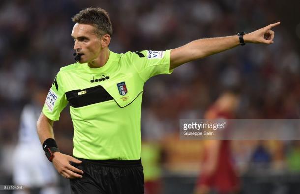 Massimiliano Irrati en un partido de esta temporada / Foto: gettyimages