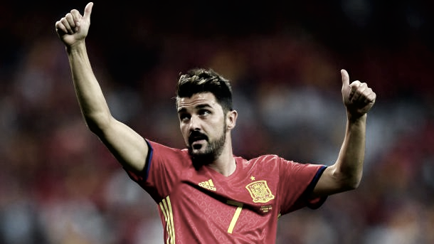 David Villa appeared in Spain's 3-0 win over Italy on Saturday. | Photo: David Ramos/Getty Images