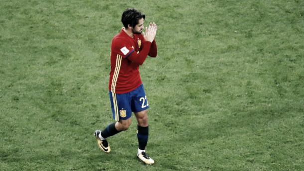 Isco em partida contra a Itália | Foto: TF-Images/Getty Images