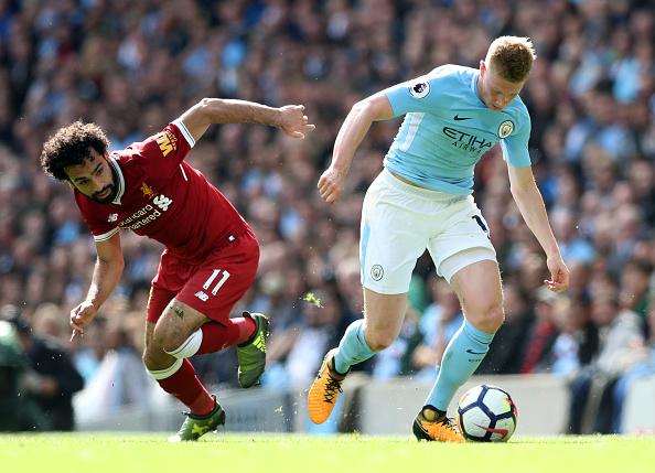 De Bruyne e Salah são os favoritos a conquistarem o prêmio de melhor jogador (Foto: Martin Rickett - PA Images/Getty Images)
