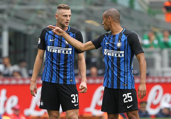 Skriniar e Miranda comandam a zaga da Inter (Foto: Marco Luzzani/FC Internazionale)