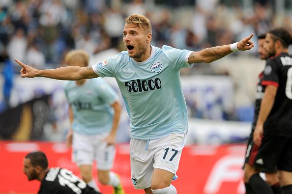 Immobile marcou três vezes na última vez que Lazio e Milan se enfrentaram (Foto: Marco Rosi/Getty Images)