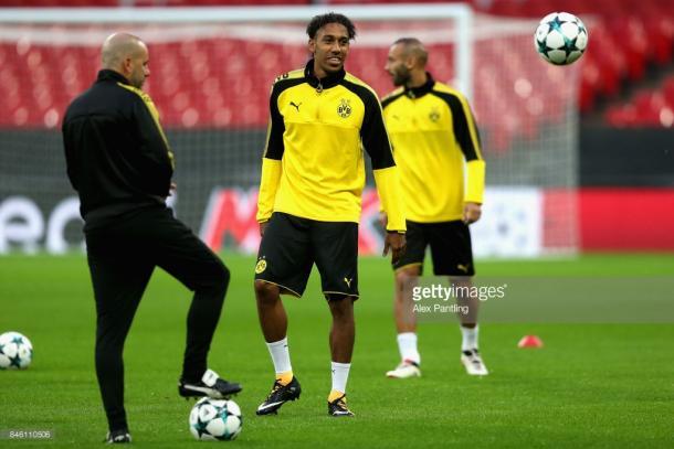 Borussia Dortmund entrenando en el Estadio de Wembley (Foto: Getty Images)