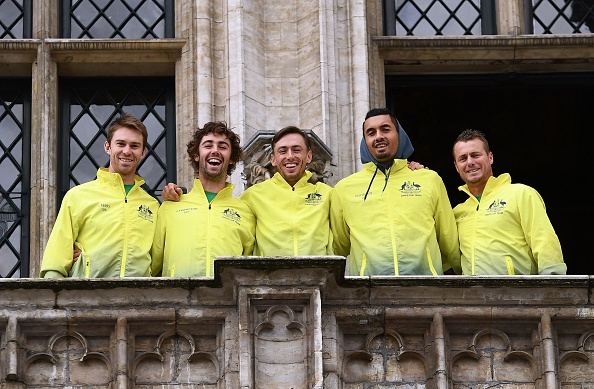 Team Australia posing for pictures (Photo: Emmanuel Dunand/Getty Images)