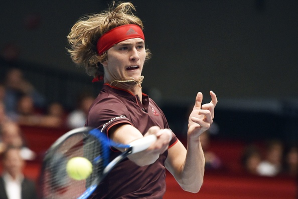 Alexander Zverev partaking in Vienna, where he exited at the quarterfinal stage (Photo: Hans Punz/Getty Images)