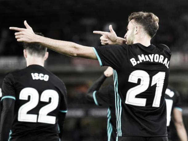 Borja Mayoral comemora o primeiro gol da partida | Foto: Ander Gillenea