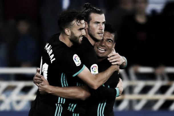 Bale comemorando o seu gol | Foto: David Ramos/Getty Images
