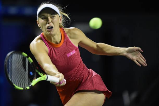 Wozniacki came through a big test to reach the last eight (Getty/Matt Roberts)