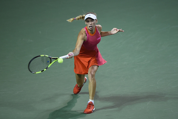 Wozniacki worked her way into the match and eventually came through (Getty/Matt Roberts)