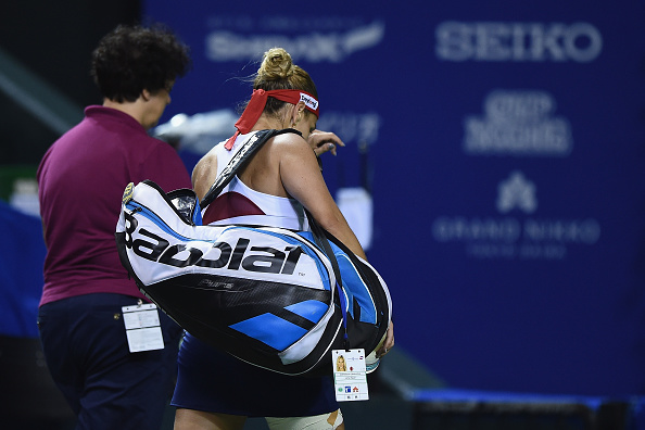 Cibulkova was forced to retire after nearly winning the match (Getty/Matt Roberts)