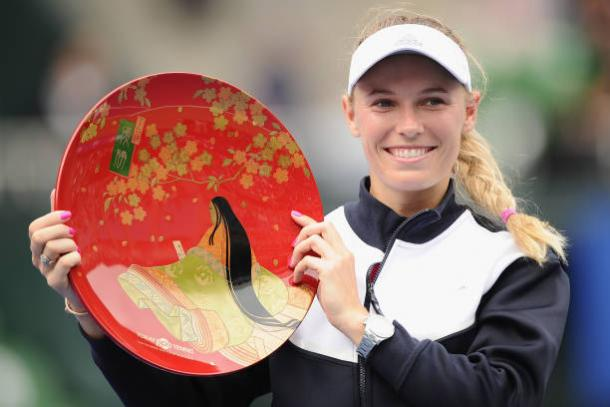 Wozniacki captured the 26th WTA title of her career when she won in Tokyo (Getty/Matt Roberts)
