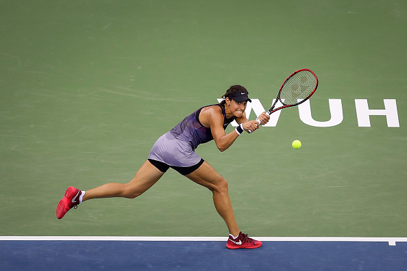 Garcia impressed as she overcame Kerber to reach the second round in Wuhan (Getty/Wang He)