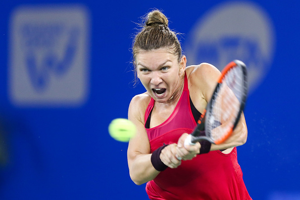 Halep struggled and fell to one of her worst losses of the season (Getty/Yifan Ding)