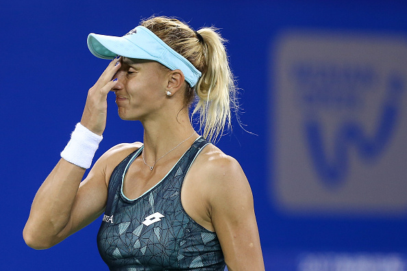 Tsurenko was eventually overpowered by the Spaniard, despite an admirable effort (Getty/Yifan Ding)