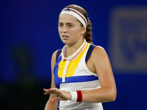 Ostapenko failed to make any impact as her eight-match winning run was broken (Getty/Kevin Lee)