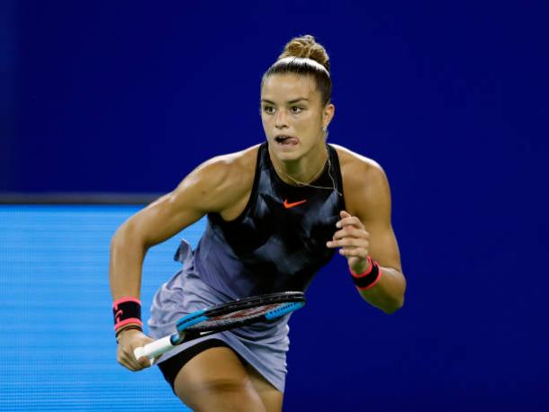 Sakkari lost today, though this has still been a breakthrough tournament for her (Getty/Kevin Lee)