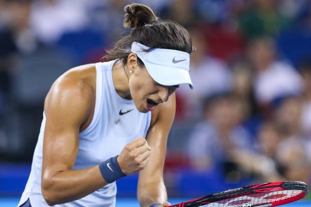 Garcia battled through Barty to win her fourth WTA singles title (Getty/Yifan Ding)