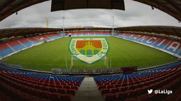 Estadio Los Pajaritos en Soria. | Foto: LaLiga
