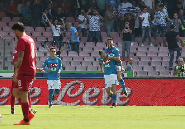 Mertens deu o passe para o gol de Hamsík (Foto: Francesco Pecoraro/Getty Images)