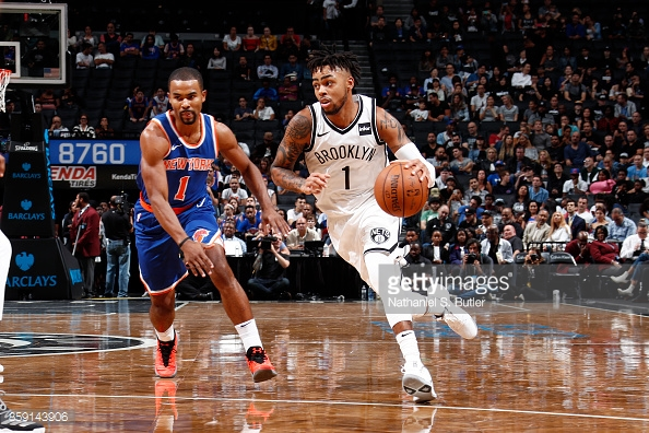 D'Angelo Russell running the point for the Brooklyn Nets. Photo: S. Butler/Getty Images